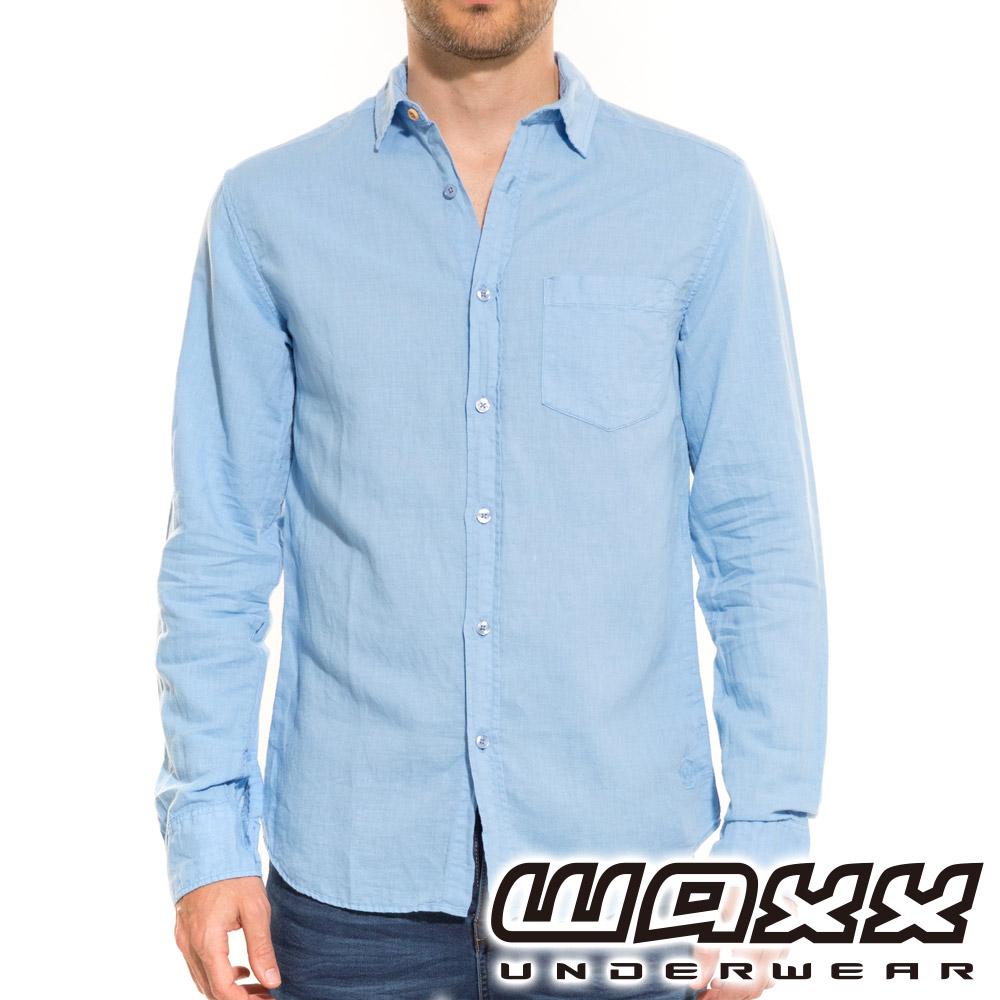 WAXX 經典系列-特級亞麻襯衫(藍色)