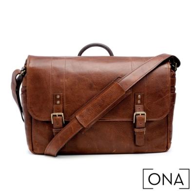 ONA Union Street 真皮專業相機包(1機3鏡,15吋筆電適用) - 核桃棕