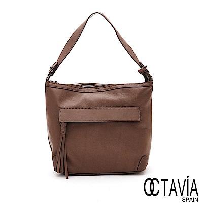 OCTAVIA 8 真皮  -   四季浪漫  小羊皮法式軟調手提肩背包 - 駝棕
