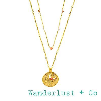 Wanderlust+Co 澳洲品牌 十一月誕生石項鍊 鑲鑽金色項鍊