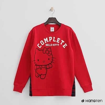 Hang Ten - 女裝 - Hello Kitty系列-側格紋拼接上衣-紅