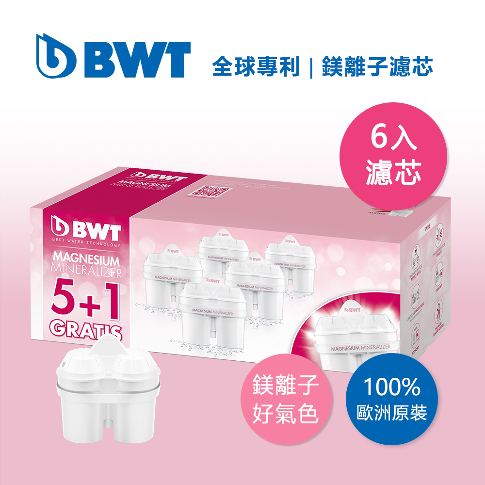 BWT德國倍世 Mg2+鎂離子8週長效濾芯環保包-5+1入