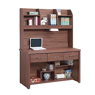綠活居 尼達可4尺多功能書桌/電腦桌組合(上+下)-121x58x166cm-免組