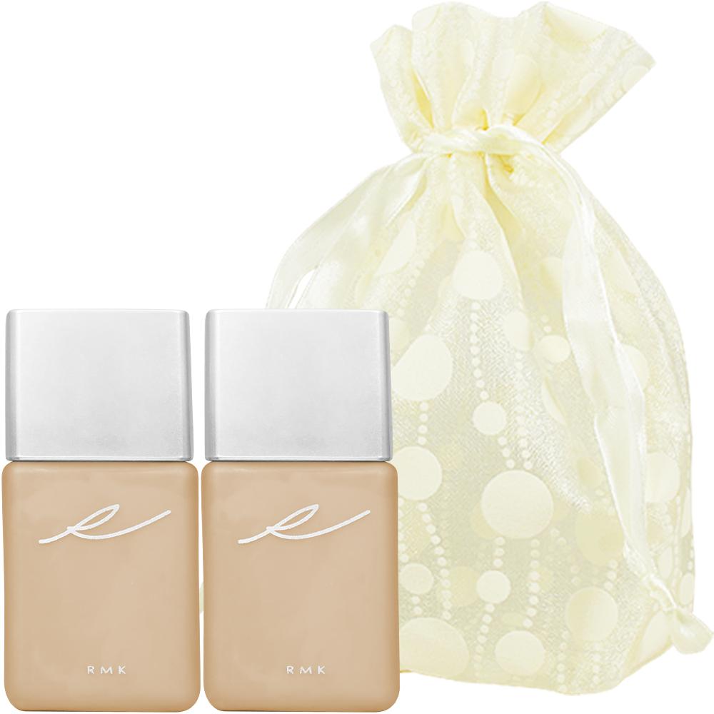 RMK 液狀粉霜(#102)(15ml)*2旅行袋組