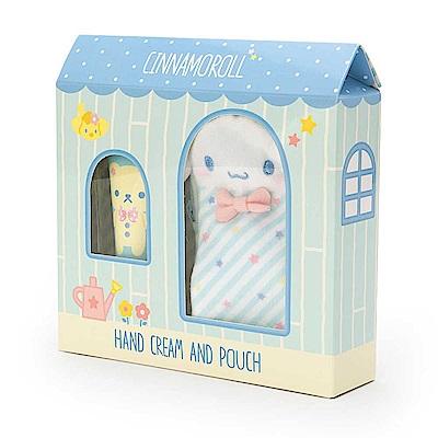 Sanrio 大耳狗喜拿香氛護手霜&玩偶造型收納袋禮盒組(蜜桃香)