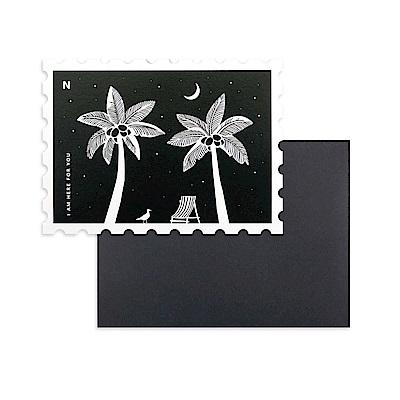 Dailylike 郵票造型卡片信封組-13 永遠在這裡