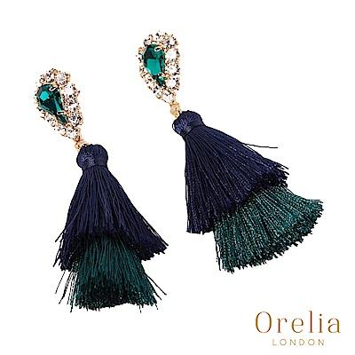 Orelia 英國倫敦 高雅綠寶石流蘇耳環