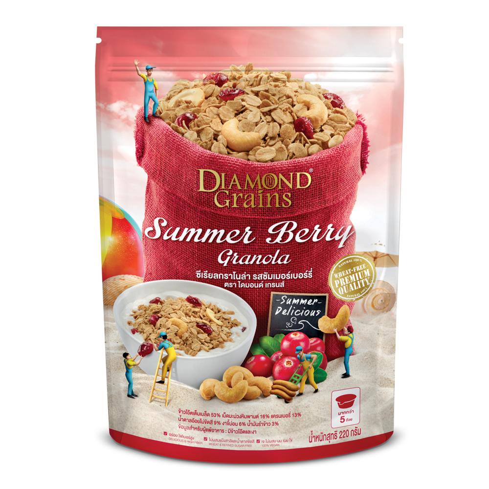Diamond Grains 鑽石燕麥穀脆片-夏日莓果(220g)
