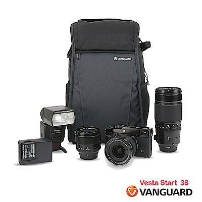 VANGUARD 精嘉 唯它黑匣 38 攝影雙肩包Vesta Start 38