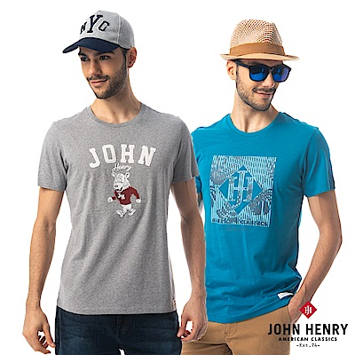 [時時樂限定]【JOHN HENRY】美式經典印花T-8款任選
