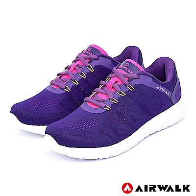 【AIRWALK】活力追夢針織運動鞋-紫色