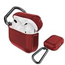 刀鋒TREK Apple AirPods Pro 鋁合金雙料藍牙耳機盒保護套(暗夜鋼鐵紅)