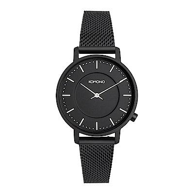 KOMONO Harlow Mesh 手錶-性格黑/36mm