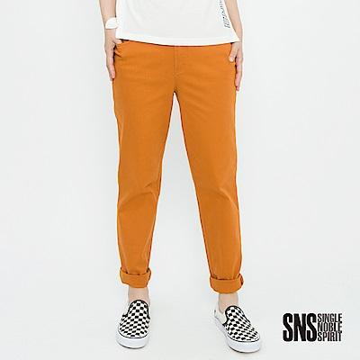 SNS 自然簡約純色九分直筒褲(3色)