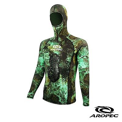 AROPEC Silence 打獵男款連帽潛水防寒上衣 迷彩綠