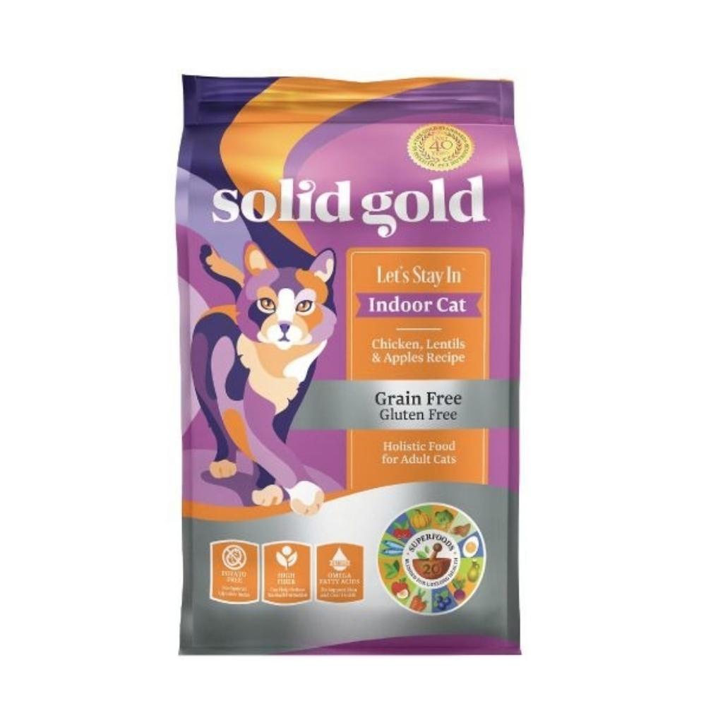 Solid gold速利高-宅宅貓吃雞-室內化毛超級寵糧 6LBS/2.72KG