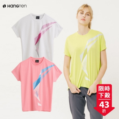 [時時樂限定]Hang Ten-ThermoContro-蕭青陽設計女機能T恤-三款選