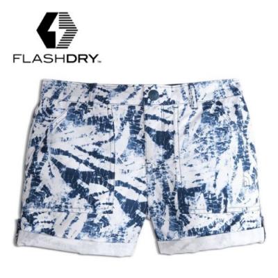 The North Face 童款 FlashDry 閃電吸排休閒短褲_藍色印花 V