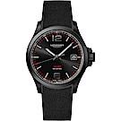 LONGINES浪琴 征服者系列V.H.P.萬年曆手錶-黑/43mm