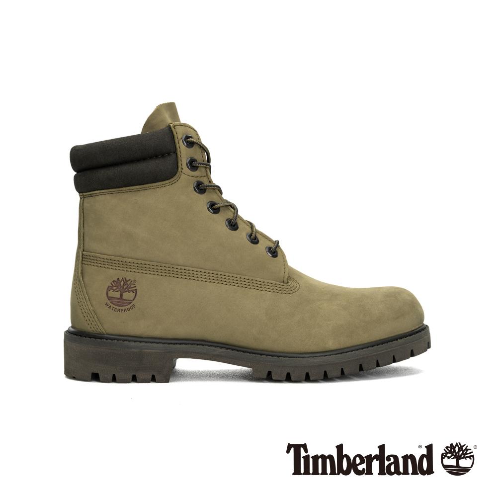 Timberland 男款橄欖綠防水經典雙領6吋靴 A1WW7