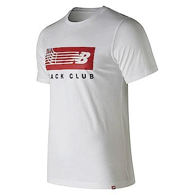 New Balance 賽道圖案短袖T恤AMT91542WT_男_白