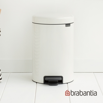 【Brabantia】NEWICON環保垃圾桶-12L純靜白