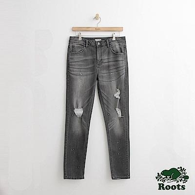 Roots 男裝-修身牛仔褲-灰色