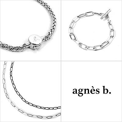 【agnes b.純銀套組系列】中性純銀項鍊/手鍊