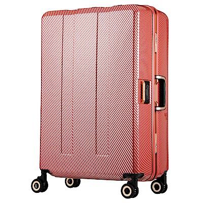 日本 LEGEND WALKER 6703N-64-26吋 寶貝輪秤重箱 碳纖莓果紅