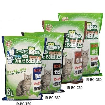 IRIS 豆腐猫砂 (竹炭/咖啡/绿茶/原味) 6L 三包組