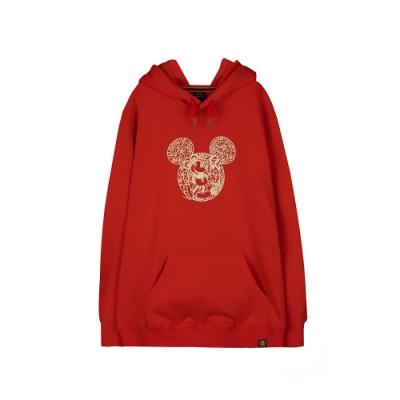 野獸國 迪士尼 Mickey系列_剪紙米奇款_連帽T恤