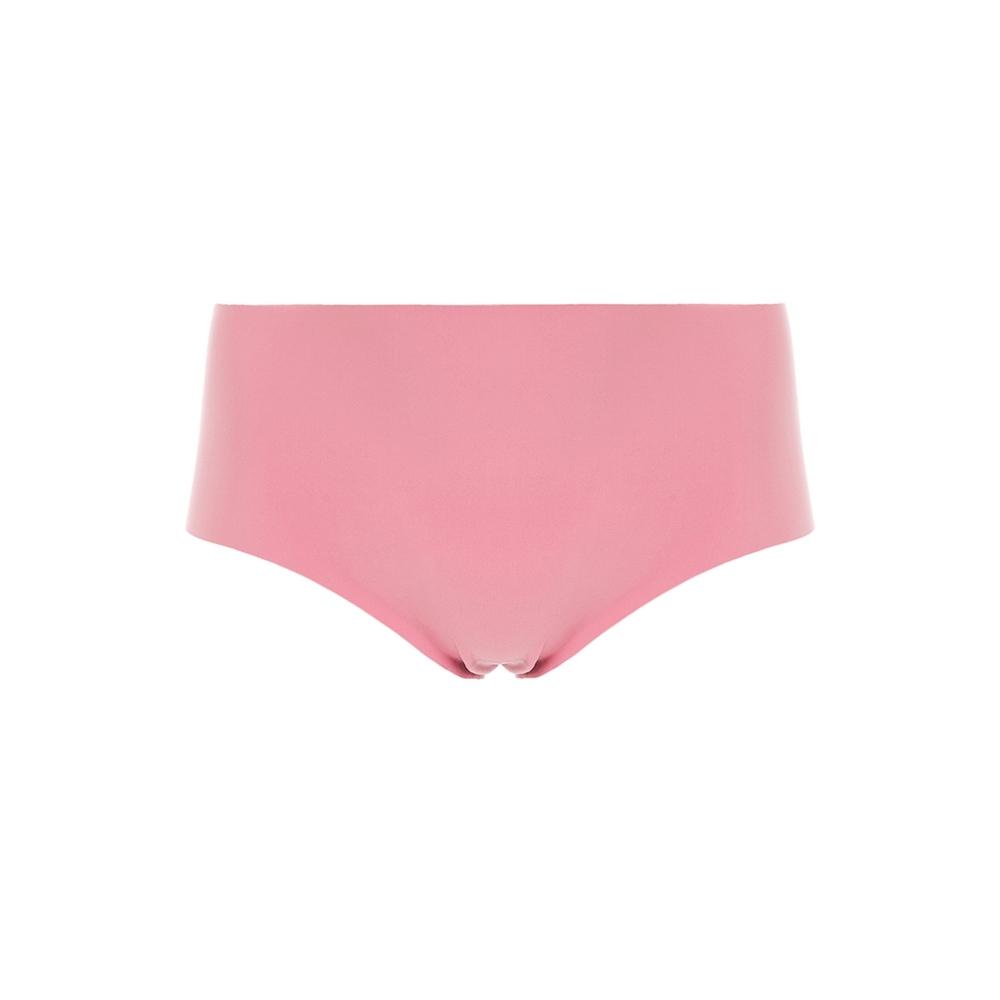 黛安芬-舒適自在系列 無痕中腰平口內褲 M-EL 粉藕色