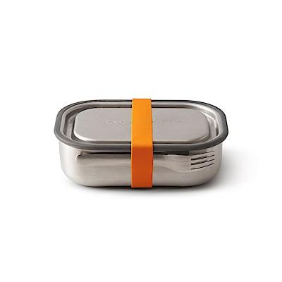 英國BLACK+BLUM不鏽鋼滿分便當盒(熱情橘/附餐具)
