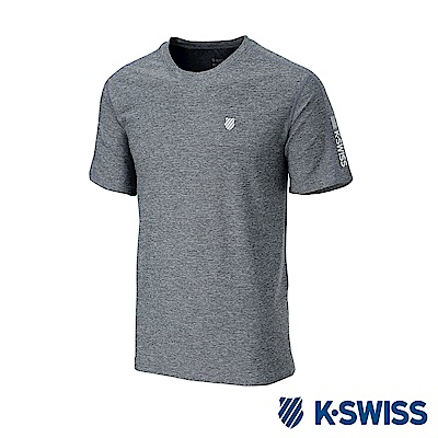 K-SWISS PF RE Melange Tee排汗T恤-男-灰