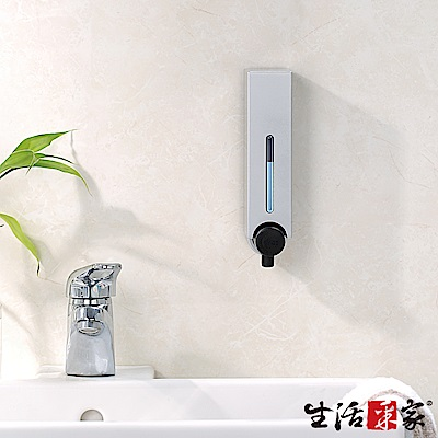 生活采家 幸福手感單孔手壓式給皂機250ml-科技亮銀