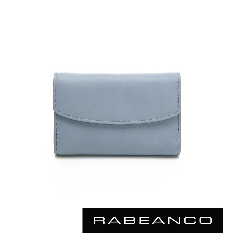 RABEANCO 歐式經典撞色拉鍊中夾 水藍