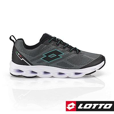 LOTTO 義大利 男   SPEEDRIDE 風動跑鞋(灰/綠)