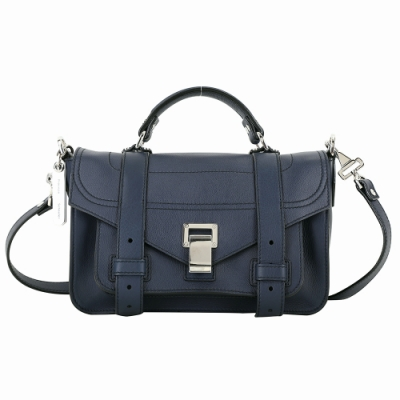 PROENZA SCHOULER PS1 Tiny 小牛皮手提/斜背包(深藍色)