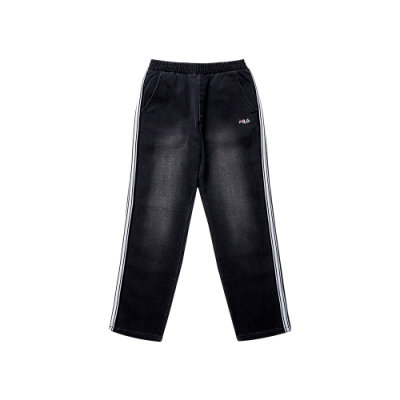 FILA KIDS 童牛仔褲-黑 1PNT-8433-BK