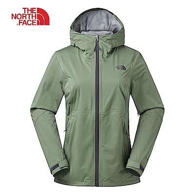 The North Face北面女款綠色防水透氣衝鋒衣|3RL4ZCE