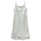 Ralph Lauren 大童少女無袖下襬荷葉邊洋裝-白底碎花(16歲)