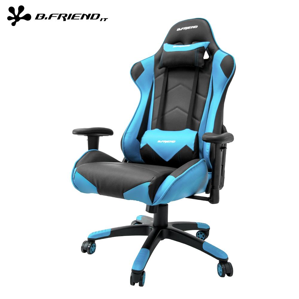 B.Friend GC04電競椅 + GK3 遊戲發光有線鍵盤(黑)