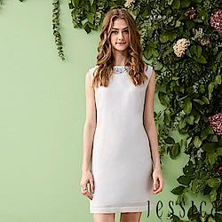 JESSICA - 時尚拼接設計修身洋裝(灰)