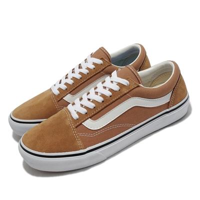 Vans 休閒鞋 V36CF Clam Skool 板鞋 女鞋 麂皮 帆布 異材質 穿搭推薦 基本款 棕 白 5987070003