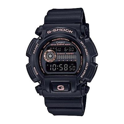 G-SHOCK 80年代經典款復刻誕生限定休閒錶(DW-9052-1A4)玫瑰金43mm