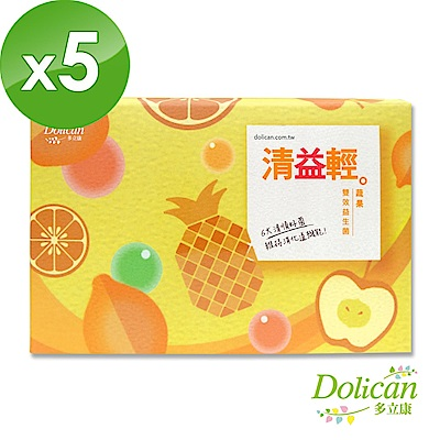 多立康 清益輕蔬果雙酵益生菌(60 粒/盒x5入組)