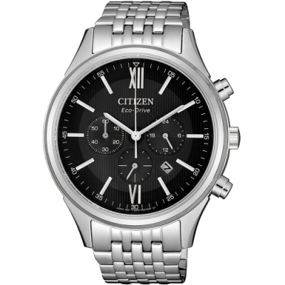 CITIZEN 星辰 亞洲限定款光動能三眼計時腕錶-銀(CA4410-84E)