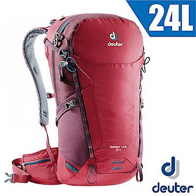 德國 Deuter 新款 Speed Lite 24L 輕量級透氣健行登山背包_莓紅/紫紅