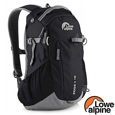 英國 LOWE ALPINE Edge II 18 輕量透氣拔熱式健行登山背包_黑