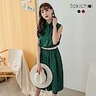 東京著衣   甜美格紋腰抓皺側開衩襯衫洋裝 S.M.L(共兩色)